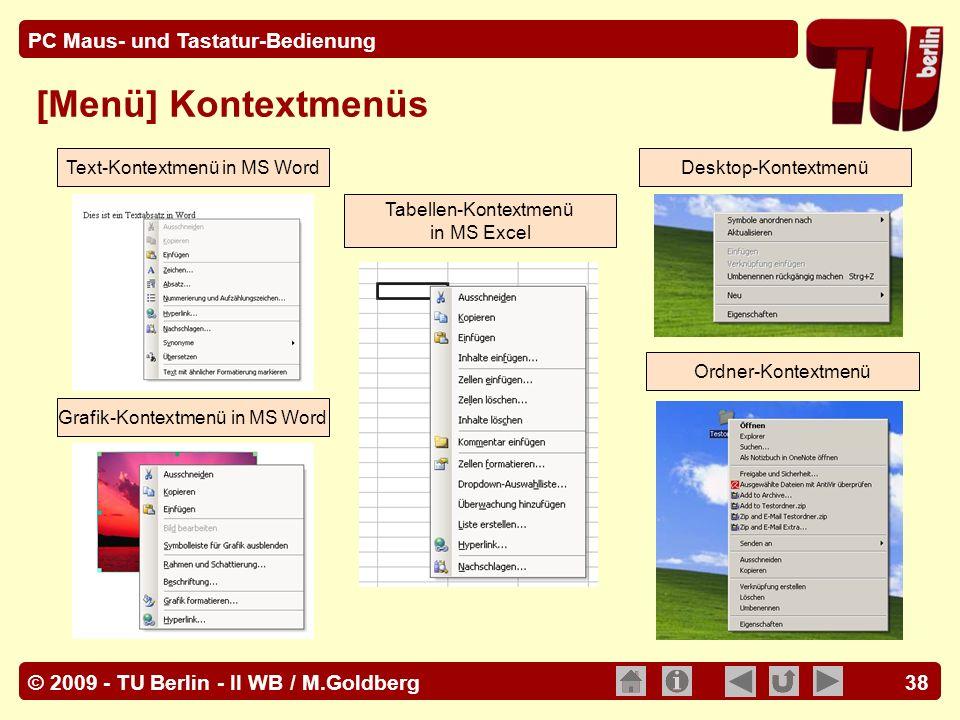 [Menü] Kontextmenüs Text-Kontextmenü in MS Word Desktop-Kontextmenü